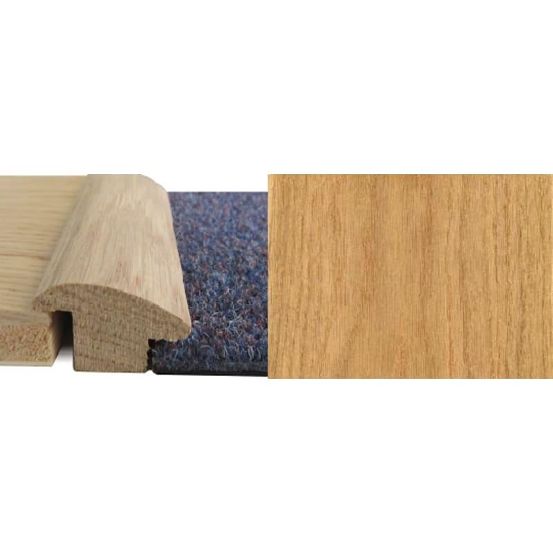 Oak Wood to Carpet 15mm Rebate Solid 2.7 metre Wood To Carpet