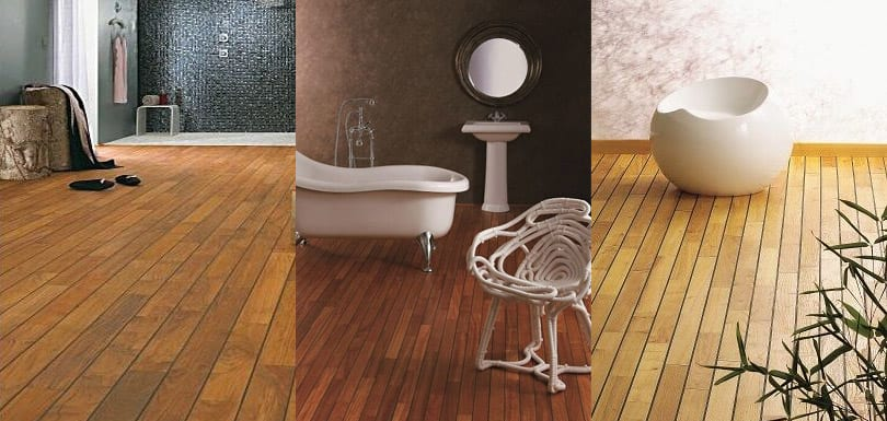 Navylam Wooden floor styles for bathrooms