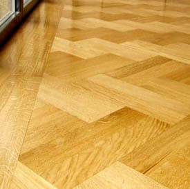 Main Image for article Oak Herringbone Parquet Flooring