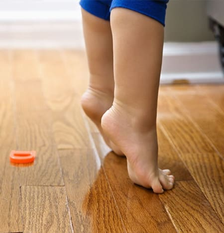 Main Image for article Seven Reasons for walking barefoot on real wood floors: