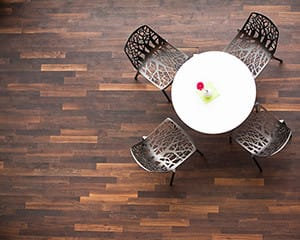 dark commercial parquet wooden flooring