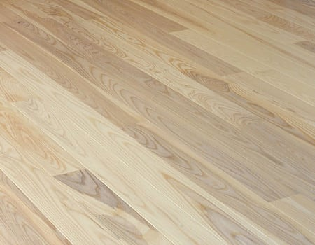 close up of a ash engineered wood floor