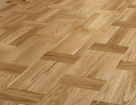 close up of a Lacquered parquet wood floor