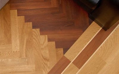 top vies of some parquet flooring