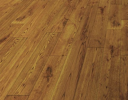 some distressed solid wooden floors