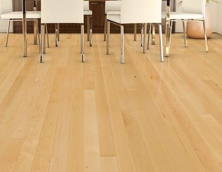 a hand-scraped soild wooden floor