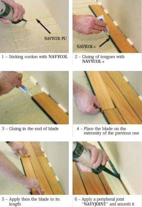 Navylam Bathroom Flooring Construction