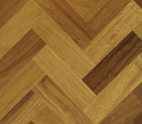 Iroko - Kambala Prime 280mm Engineered Parquet Block - Herringbone