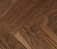 American Black Walnut 280mm Engineered Parquet Block - Herringbone