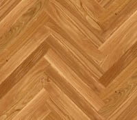 Oak Herringbone Parquet Lacquered Hardwood Floor