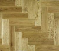 Natural Oak 300mm Herringbone Parquet Block
