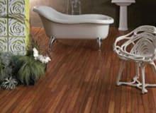 Can I install real wood floor in my bathroom?