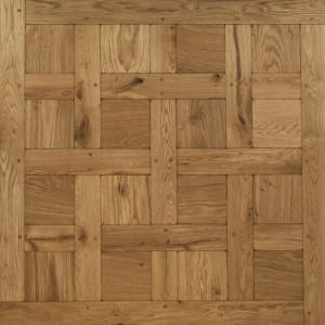Chantilly Tumbled & Dowels Mosaic Design Oak Panel Parquet Flooring