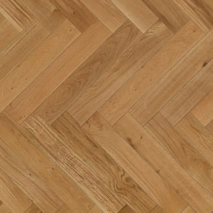 Oak Herringbone Lacquered Parquet Flooring
