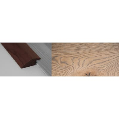 Frozen Umber Stained Solid Oak Ramp Bar Flooring Profile 15mm Rebate 2.7m