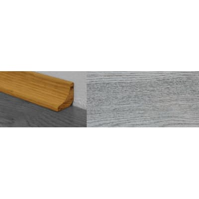 Smokehouse Grey Stained Solid Oak Scotia 2.7m for Flooring