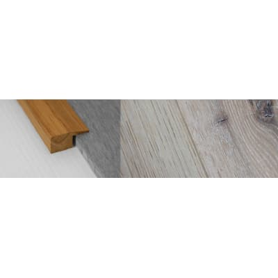 Limehouse White Stained Solid Oak Square Edge Flooring Profile 15mm 2.7m