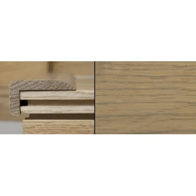Grey Oak Stair Nose Profile Soild Hardwood 2m