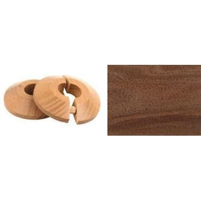 Walnut Solid Wood Pipe Rose Pack of 2