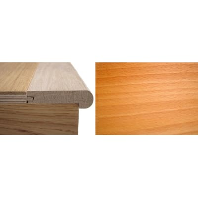 Solid Beech Stair Nosing Profile Soild Hardwood 12mm 2.4m