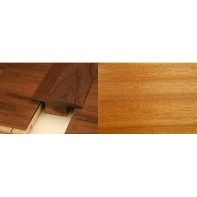 Iroko T-Bar Profile Soild Hardwood 15mm Rebate 2.44m