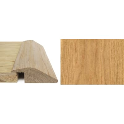 Oak Ramp Bar Flooring Profile 15mm Rebate Solid Hardwood 0.9m