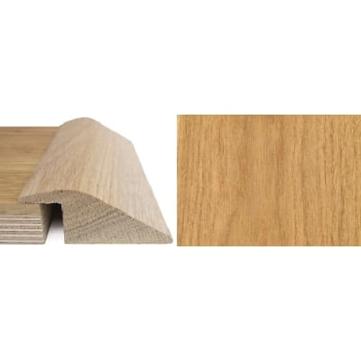 Oak Ramp Bar Flooring Profile 20mm Rebate Solid Hardwood 0.9m