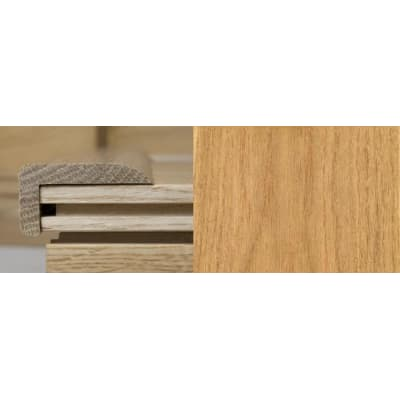 Oak Multi Stair Nosing Profile Soild Hardwood 1m