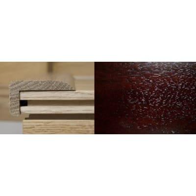 Dark Walnut Stair Nose Profile Soild Hardwood 1m