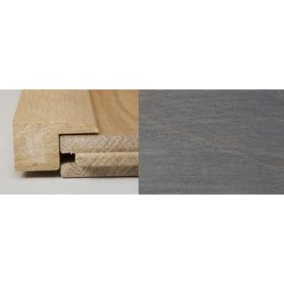 Silver Grey Stained Square Edge Soild Hardwood Flooring Profile 1m