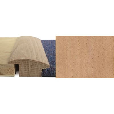 Beech Wood to Carpet Profile Soild Hardwood 15mm Rebate 2.7m
