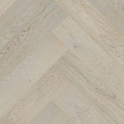 Nordic Grey Stained Oak Herringbone Rustic Engineered Parquet Click Block