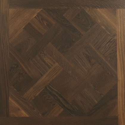 Versailles Fumed Mosaic Design Oak Panel Parquet Flooring