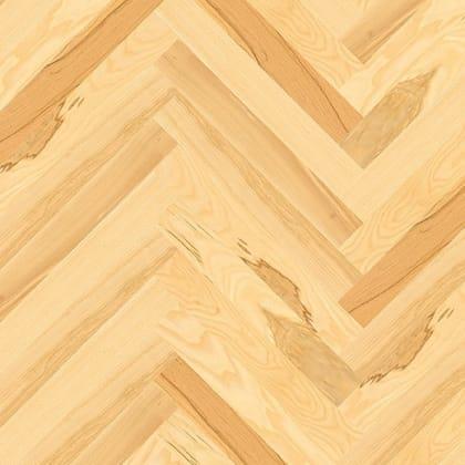 Ash Herringbone Parquet Lacquered Hardwood Floor