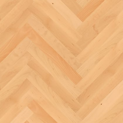 Beech Herringbone Parquet Lacquered Hardwood Floor