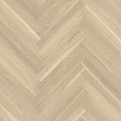 Oak Baltic White Herringbone Parquet Lacquered Hardwood Floor