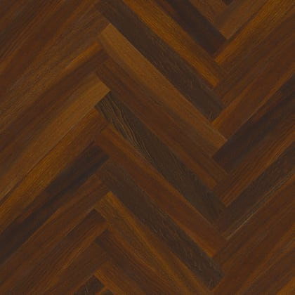 Smoked Oak Herringbone Parquet Lacquered Hardwood Floor