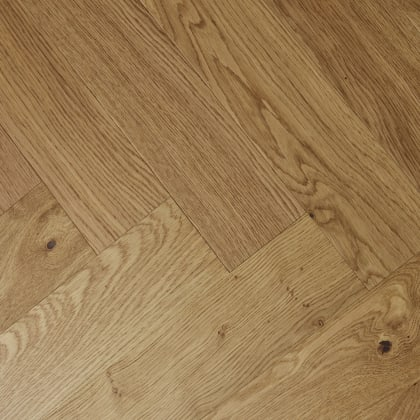 Natural Oak Oiled Herringbone Engineered Parquet Block