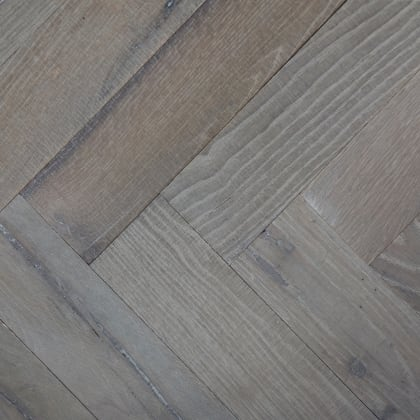 Farmhouse Grey Oak Hardwax Oiled Reclaimed Herringbone Parquet Engineered Hardwood Flooring
