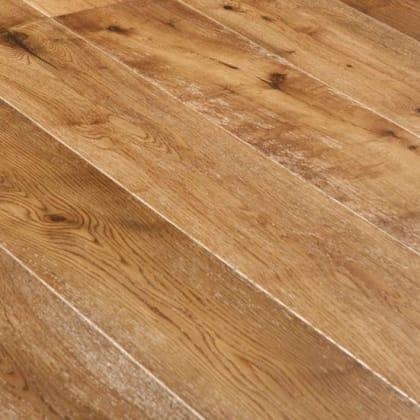 Hickory Smoked Oak Brushed Handscraped Engineered Hardwood Flooring