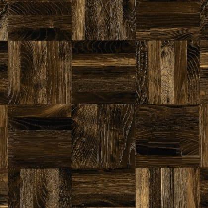 Oak Fumed 5 Finger Mosaic Parquet