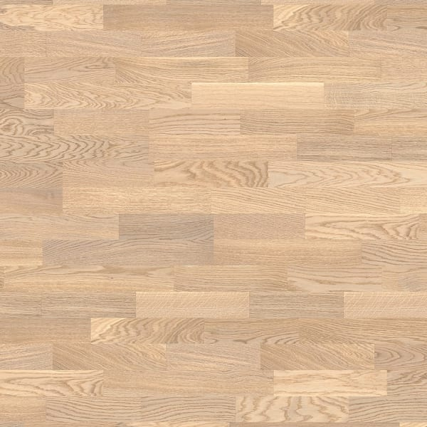 3 Strip Anse-White Stained Oak Lacquered Engineered Hardwood Flooring