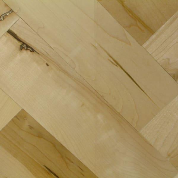 Natural Maple 228mm Herringbone Parquet Block