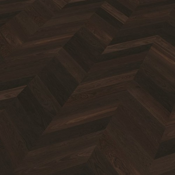 Caucasus Rustic Oak Semi-Smoked Brushed Oiled Chevron Parquet Flooring