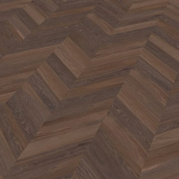 Rustic Oak Dark Smoked Oiled Chevron Parquet Flooring