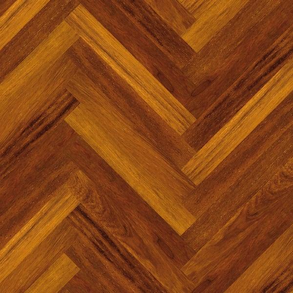 Merbau Herringbone Parquet Lacquered Hardwood Floor