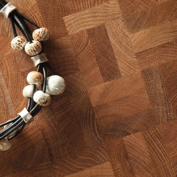 End Grain Natural Oak 3 Block Mosaic (560mm x 140mm x 18mm) Parquet Flooring