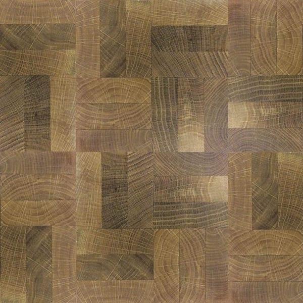 End Grain Fumed Oak 3 Block Mosaic (560mm x 140mm x 18mm) Parquet Flooring