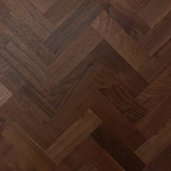 Prime Walnut 230mm Parquet Block - Herringbone
