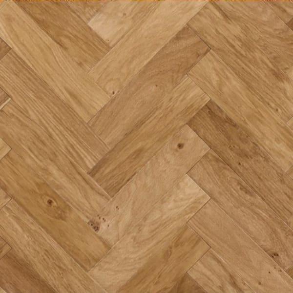 Oak Unfinished Herringbone Engineered Parquet Flooring